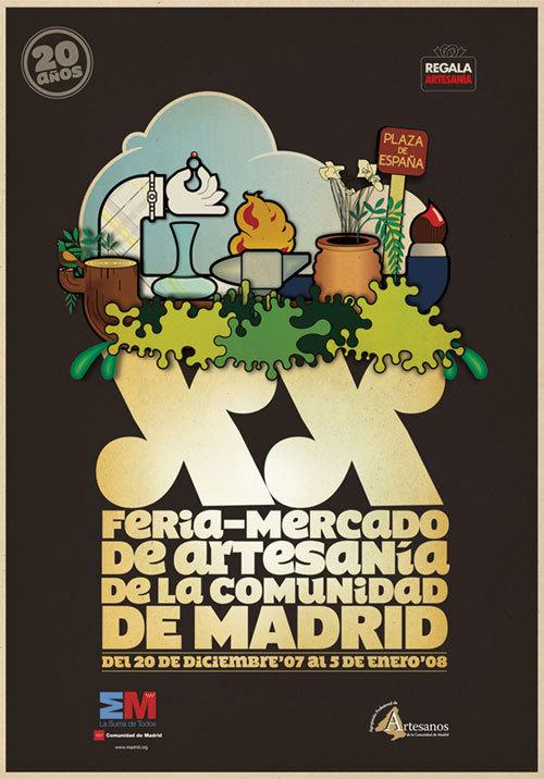 Mercado de Artesanía de Madrid campaign